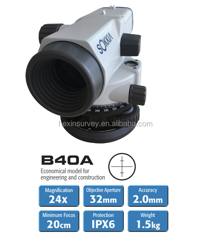 Sokkia auto level instrument B40A 24X magnification dumpy level price