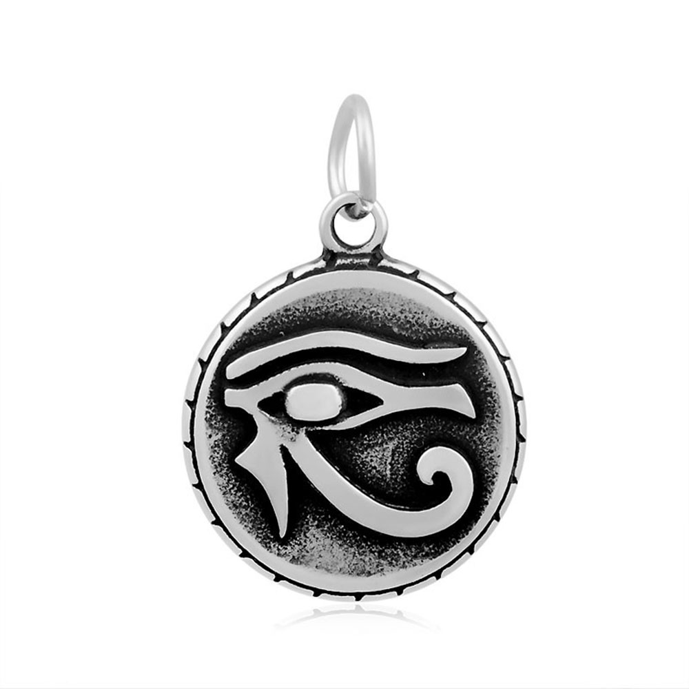 DIY Handmade Craft 19x29mm Stainless Steel Egypt Eye Of Horus Egyptian Charms Pendants for Jewelry Making