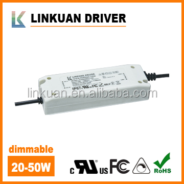 UL Certificates Panel light dimmable 50w led driver