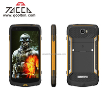 Tacca smart mobile phone IP68 5.5 Inch Screen, 4G, GPS, AMOLED, Dual Sim Card, Walkie Talkie, 20MP Camera (Yellow)