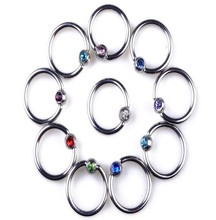 Body Piercing navel ring eyebrow ring O-shaped ball diamond mouth lip piercing