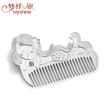 Myshine elegant gift of sterling silver comb for lady