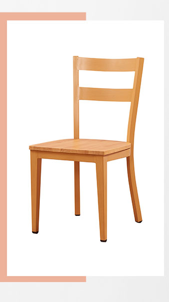 Modern seat metal iron wood grain restaurant dining chair design for sale