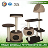 BSCI QQ Wholesale Cat Tree Ladder & New Woven Cat Furniture & Cat House Condo