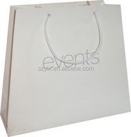 New Luxury Shopping Paper Bag for Cloth/cheap white paper bag with logo printing