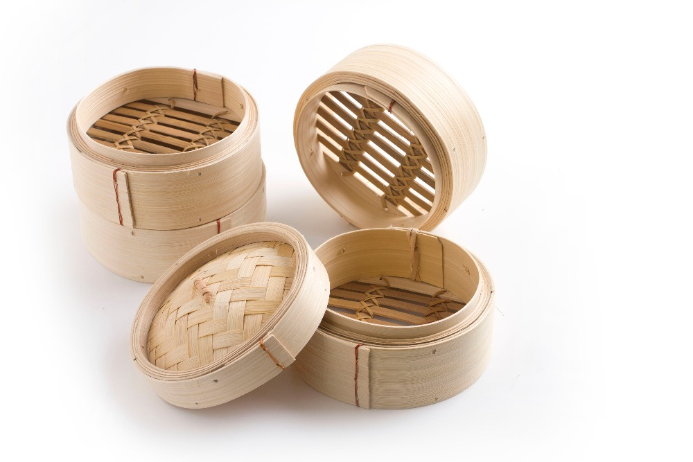 Low Price Washable Dumpling Hot Dog Dim Sum Bamboo Steamer