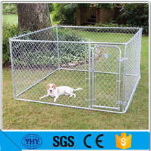 outdoor temporary dog fence, pvc chain link dog kenel