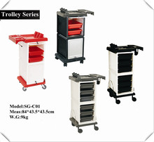 Professional hair salon trolley with drawer for beauty salon furniture,C001