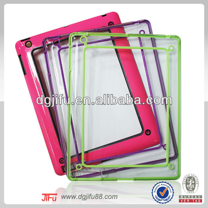 stylish dual universal bumper case accessories for iPad2/3/4