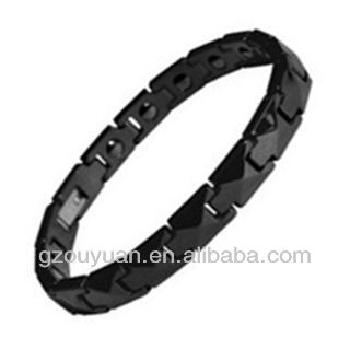 2012 Black IP Ceramic Bracelets , Fashion accessory,Ceramic & Magnet Bracelets