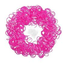Rubber Bands With S Clips For Loom Bracelets DIY Making Metallic Fuchsia,1Packet