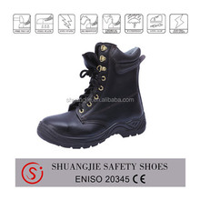 PU injection work boots for construction light surface leather safety shoe 8083