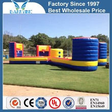 China pop attractive large inflatable bungee run with basketball hoop / funny sports game for adult