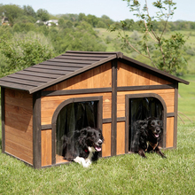 Darker Stain Extra Large Wood Dog House