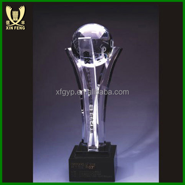 Clear Crystal World Cup Soccer Ball Award