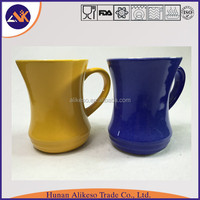 Special shape with high quality China cheap bulk stoneware ceramic coffee/tea/soup mug with handle