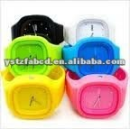 On Sales! Removable Face Square Silicone Ice Quartz Wrist Watch