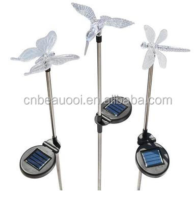 2016 AMAZON HOT Hummingbird Dragonfly Butterfly SOLAR STAKE GARDEN LAWN LIGHT AS SEEN ON TV