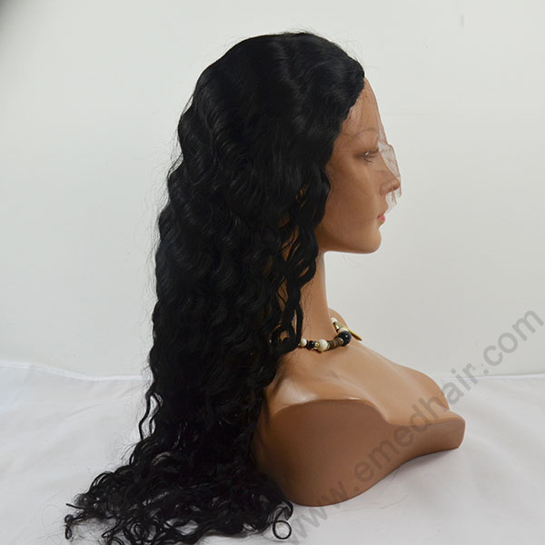 Factory price,Top quality full lace human hair wig ( size from 12inch to 24inch in stock),free part,bleached knots