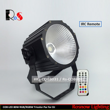 rgb stage par64 spot light COB 80W DJ par lighting led disco effect lighting equipment