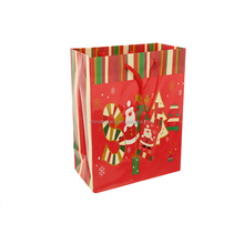 Nice Design Red Color Merry Christmas Gift Paper Bag