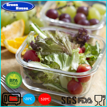 High Quality Borosilicate Glass Storage Food Container With PP Lid Customized Microwave Use