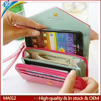 Fashion hot Korean design crown smart phone wallet Clutch flap case for iphone