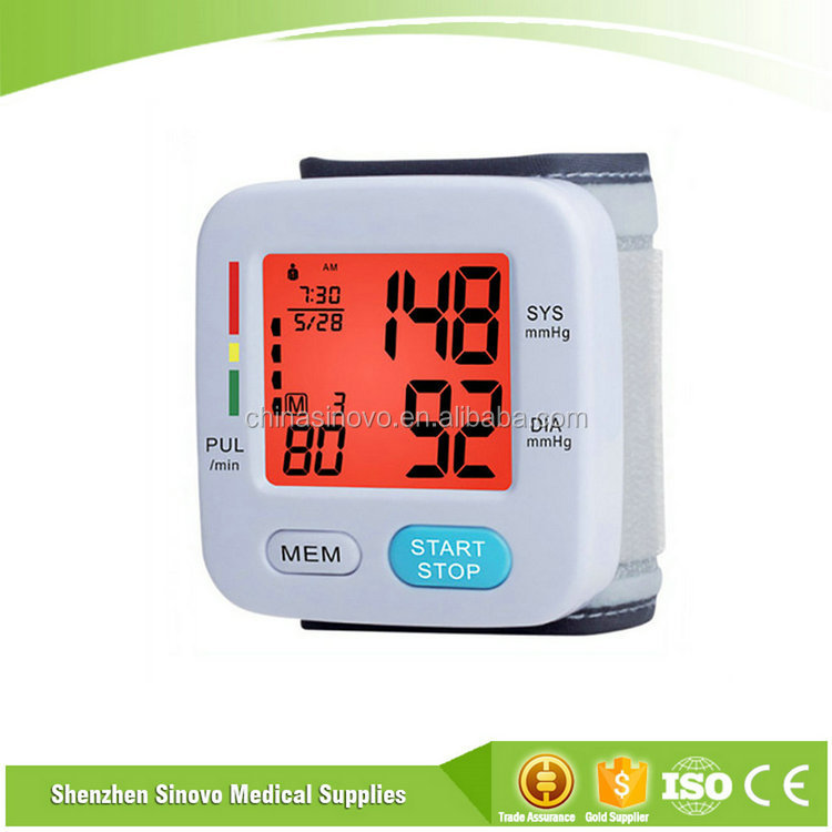 Excellent quality 3 colors BP-W4 pulse blood pressure monitor
