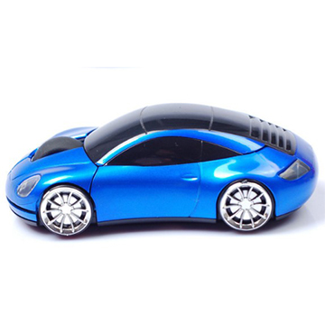 Blue Car USB Wireless Optical Mouse