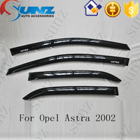 For Opel Astra 2002 black door visors parts Acrylic sheet high quality rain visors window protector accessories