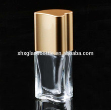 Wholesale Custom 10Ml Heart Shaped Top Coat Nail Polish Bottle With Matte Gold Heart Shaped Cap