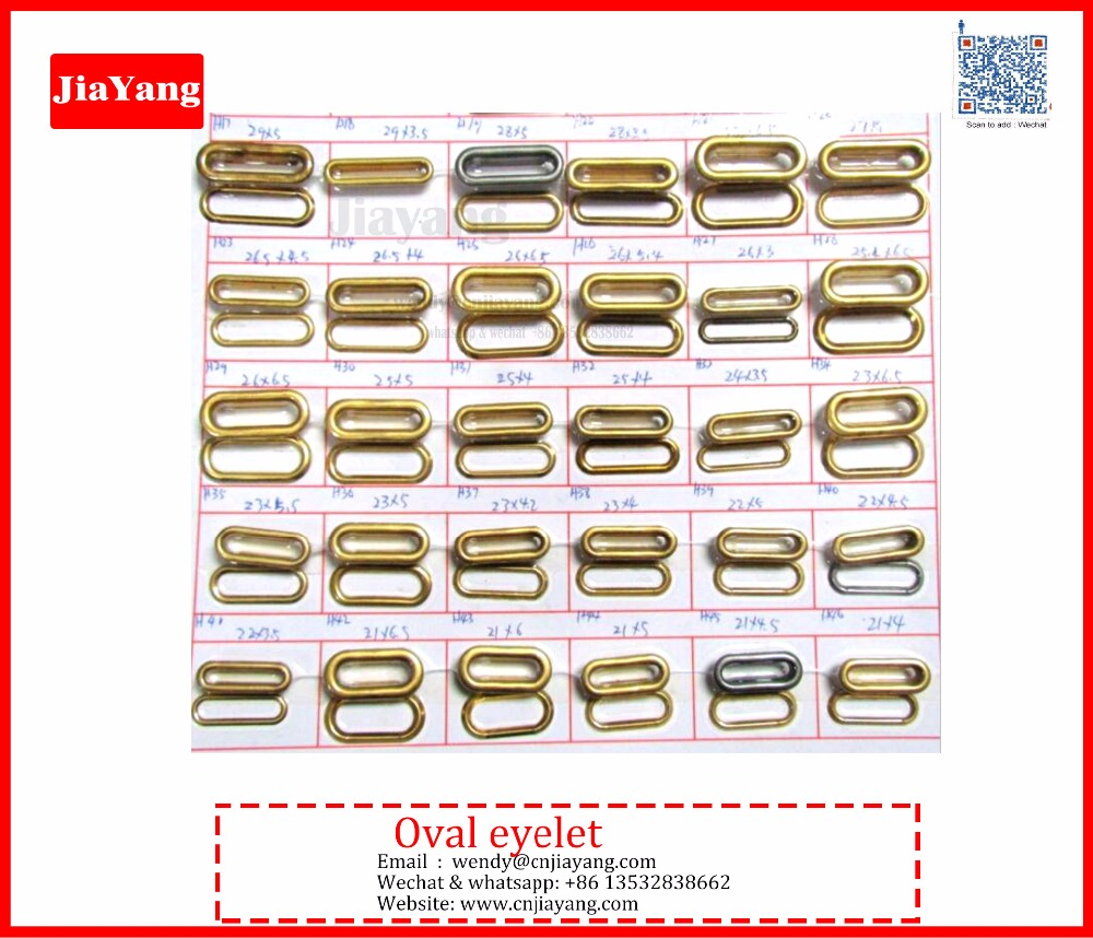 Fashion Brass material different size brass oval eyelets and grommets