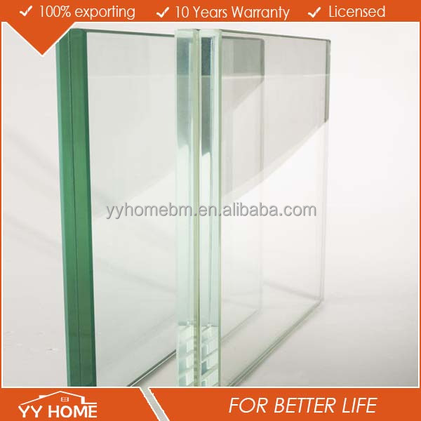 6.38mm 8.38mm 10.38mm clear or colored toughened sgp laminated glass