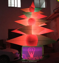 Christmas hot sale led lighting transform color light inflatable Christmas tree decorations
