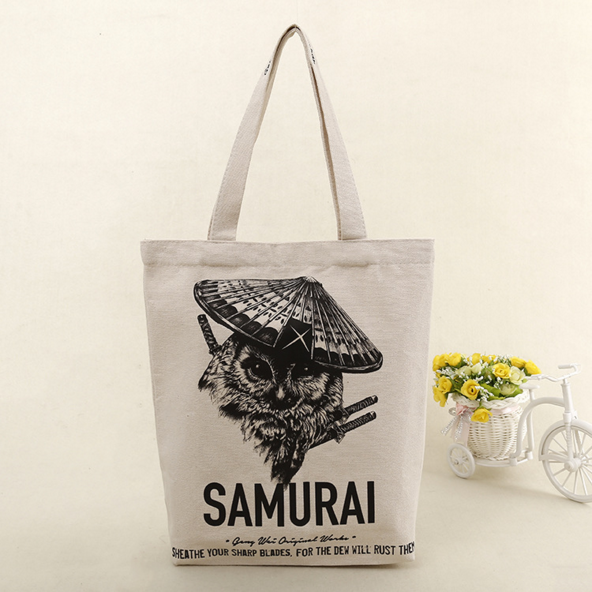 Customized Cotton Canvas Gift Advertising Bag Foldable Tote Eco Friendly Bag