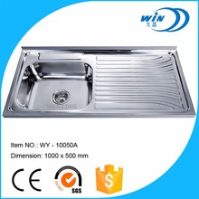 100x50 cm 1.5mm thickness 16 gauge export stainless steel single bowl kitchen sink