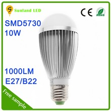 2016 new arrival good quality high lumen indoor led bulb light warm white e14 10w