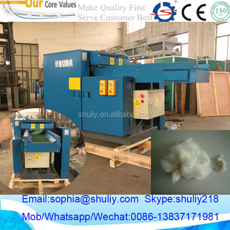 Customer highly praised waste clothes chopping machine