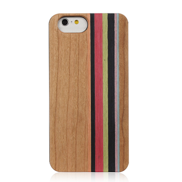 Stripe wood phone shell multiple wood back cover real wooden phone case for iPhone 6 6s Plus