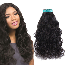 Swan natural virgin brazilian hair 4 bundle deals water wave hair extensions for black beautiful girl