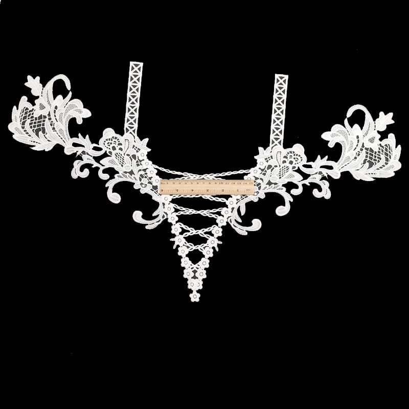 100% polyester good quality sexy guipure collar lace