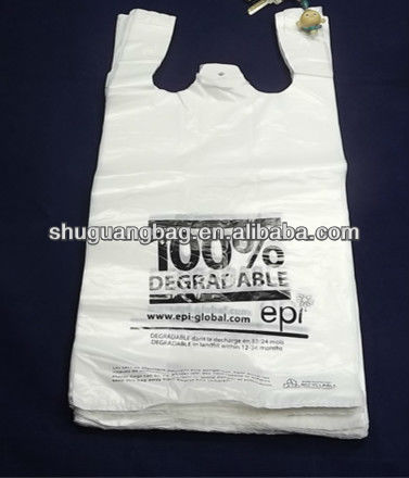 100% biodegradable bag plastic bag with EPI