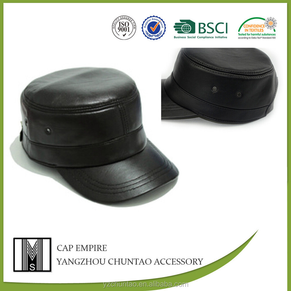 Sedex,BSCI Audit officer snapback leather military cap