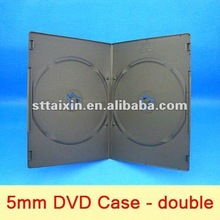 5.2mm black double PP DVD STORAGE