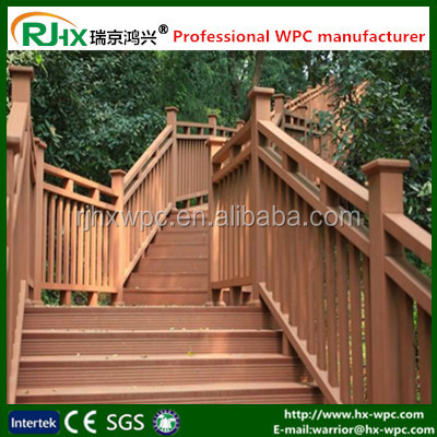 Outdoor wood-plastic composite decking with easily assembled/WPC gates and fences