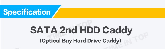 Optical Bay Hard Drive 9.5mm SATA TO IDE Caddy TITH17A for Laptop