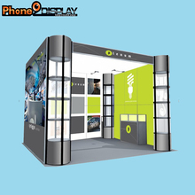 10 ft Portable Knock Down Aluminum Cabinet Exhibition booth