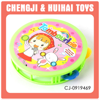 Cheaper children plastic small size tambourines for sale