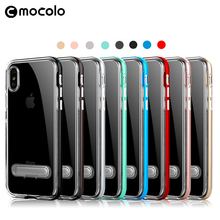 Mocolo Hot Sale TPU PC Cellphone Back Protector With Bracket Phone Case Cover For Iphone 8 8Plus X
