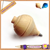 New design polished toy wooden spinning top